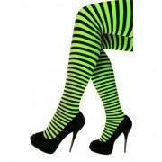 Merkloos Verkleed panty zwart groen