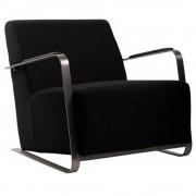 ZUIVER Fauteuil ADWIN, 100% coton coloris noir.