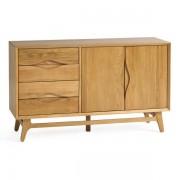 Oak Furnitureland Natural Solid Oak Sideboards - Large Sideboard - Ellipse Range - Oak Furnitureland