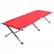 vidaXL Къмпинг легло, 190x74x47 см, XL, червено