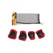 Set echipament de protectie pentru copii fete Rosu 4 piese