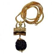 only 4 you Trishul Damru Locket Pendent Shiv Shakti Kawach Yantra Locket with gold plated chain