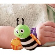 Kuhu Creations Cute Stylish Soft Baby Rattles.(2 Units Style A Multicolor 2 Wrist Rattle)