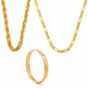 GoldNera for MEN POPULAR HONEY SINGH AND SACHIN CHAIN COMBO WITH GOLD PLATED KADA