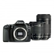 Canon EOS 80D Kit Objectif 18-55 IS STM et 55-250mm IS STM Appareil photo numérique - Reflex