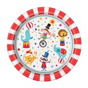 Circus Party Plates (Pack of 8)