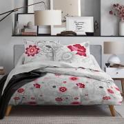 Parure de couette coton 220x240 Mawira Rosa