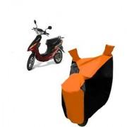 Intenzo Premium Orange and Black Two Wheeler Cover for Yo Bike Yo EXL