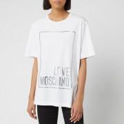 Love Moschino Women's Logo Box T-Shirt - Optical White - IT 38/UK 6 - White