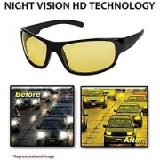 Night Vision Driving Sunglasses UV Protected Non-polarized Rectangular Unisex Sunglass for Driving (NW-RX861-YELLOW)