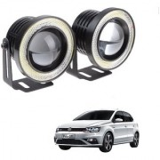 Auto Addict 3.5 High Power Led Projector Fog Light Cob with White Angel Eye Ring 15W Set of 2 For Volkswagen Polo GTI