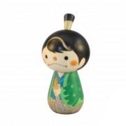 Japonská panenka Kokeshi Samuraj Kun Green 10 cm