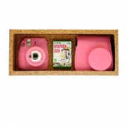 Pack Instax Mini 9 + 10 Films Y Funda Rosada