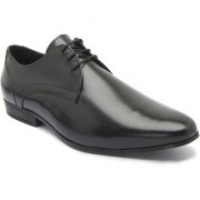 Hats Off Accessories Genuine Leather Black Derby Shoes