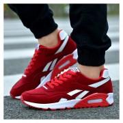 Zapatos Hombres Casuales Calzado Deportivo Respirable Corrientes De Aire - Rojo