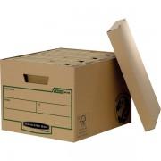 Scatole per archivio in cartone Fellowes Bankers Earth Series R-Kive - 204960 Scatole per documenti in cartone 27,1 X 33,5 X 47 cm formato utile 26 X 32,5 X 44,5 cm di colore avana in confezione da 10 Pz.