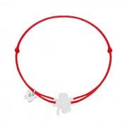 NÁRAMOK CLASSIC CLOVER WHITE GOLD Farba: červená