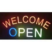 Reclama LED - WELCOME OPEN -