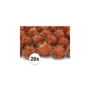 Merkloos Hobby pompons 20 mm oranje