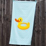 Gyerek strand fürdőlepedő, kiskacsa többszínű 70x140