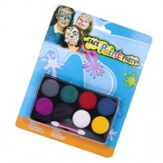 Segolike 8 Colors Face Paint Body Painting Palette Set for Party Stage Makeup Pro #A