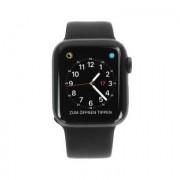 Apple Watch Series 4 Aluminiumgehäuse grau 40mm mit Sportarmband schwarz (GPS+Cellular) aluminium grau