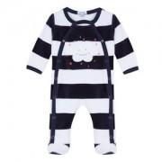 Gestreepte, fluwelen pyjama