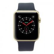 Apple Watch Series 1 carcasa de aluminiooro 42mm con con correa deportiva azul