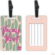 Nutcaseshop Vacay Vibes Luggage Tag(Multicolor)