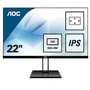 "AOC 21.5"" 1920x1080 Full HD 75Hz 5ms HDMI DP IPS Gaming Monitör Siyah 22V2Q"