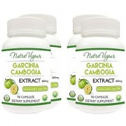 Perennial Lifesciences NutraVigour Garcinia Cambogia Extract weight management - 90 Capsules 800mg (Pack of 4)