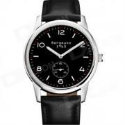 Bergmann 1963 hombres clasicos reloj-negro + plata