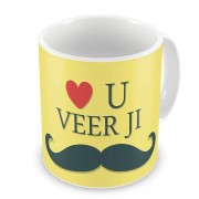 Grabadeal Beautiful Love You Veer Ji Coffee Mug Gift for Raksha Bandhan