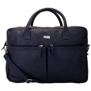 Yelloe Spacious laptop bag with two front pockets in Blue