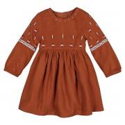 LA REDOUTE COLLECTIONS Ausgestelltes Kleid mit langen Ärmeln & Stickerei, 1 Monat - 4 Jahre