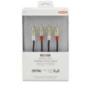 Кабел EDNET 84592, 2x RCA Chinch(м) към 2x RCA Chinch(м), екраниран, 5m