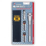 Maglite M2A09H flashlight Linterna (Hand, Grey, Silver, Aluminium, Incandescent, AA, 5.25)