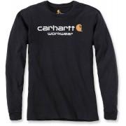Carhartt Core Logo Camisa de manga larga Negro XL