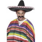 Palarie petrecere sombrero mexican negru cu ciucuri