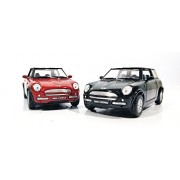 2 Combo Mini Cooper Die cast car toy (Black Red)