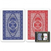 Da Vinci Ruote Italian 100% Plastic Playing Cards 2-Deck Set by Modiano Regular Index