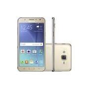 Smartphone Samsung Galaxy J7 Duos Dual Chip Android 5.1 Tela 5.5 16GB 4G Câmera 13MP - Dourado