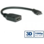 Roline VALUE HDMI High Speed kabel sa mrežom, TIP A (F) - TIP C (M) (mini), 0.15m