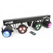 MAX LED-Partybar 2xPAR-RGBW-LEDs + RGBW-Jellball включително стойка и IR дистанционно управление (153.236)