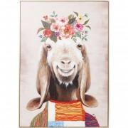 Kare Schilderij Flowers Goat 102x72 cm