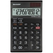 Calculator de birou, 12 digits, 155 x 97 x 12 mm, dual power, SHARP EL-126RWH - negru/alb