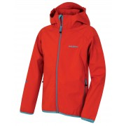 Husky Zally Kids 164-170, červená Dětská softshellová bunda