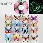 40 Pcs Moda Luminoso Mariposa Con Adhesivo De Doble Cara Simulacion Imanes De Nevera Etiqueta De La Pared Decoracion De Jardin, Color Al Azar Entrega