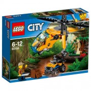 Set de constructie LEGO City Elicopter de Marfa in Jungla