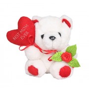 Tickles Teddy with Best Mom Heart Ever Soft Stuffed For Mummy Mothers Day Special Gift 8 cm
